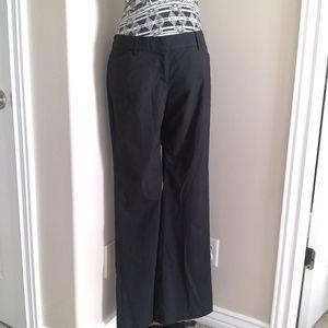 9f48f74c57e Express black pinstripe long Editor trousers